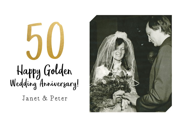 Create a Anniversary Gold Greeting Card