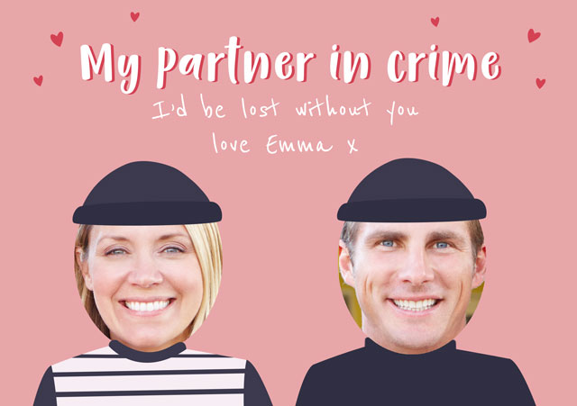 Create a Partner's In Crime Greeting Card