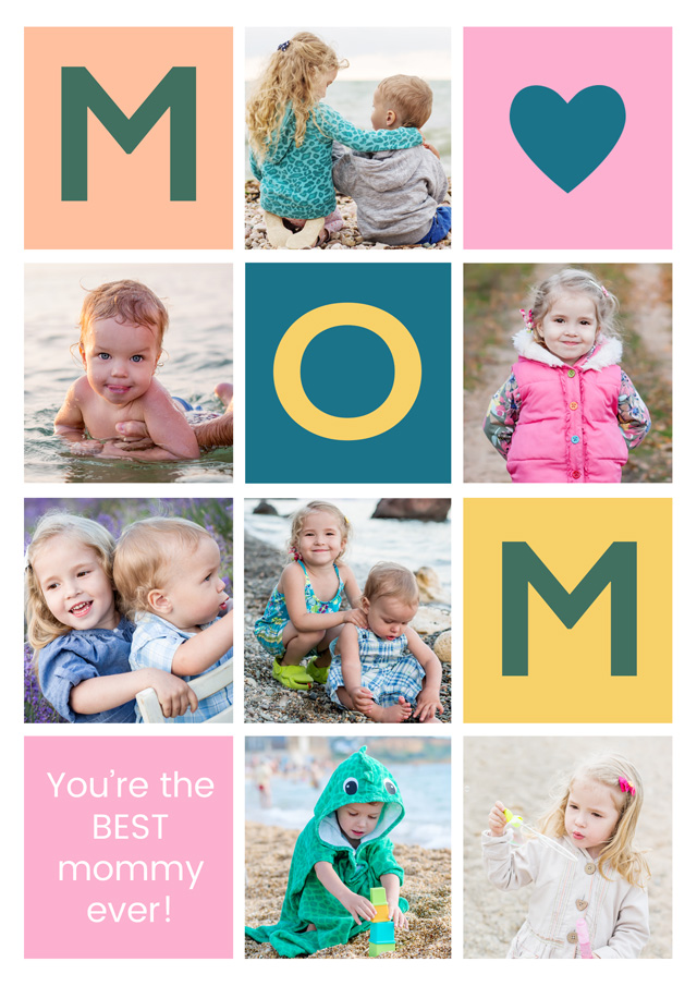 Create a Mom 7xcollage Greeting Card
