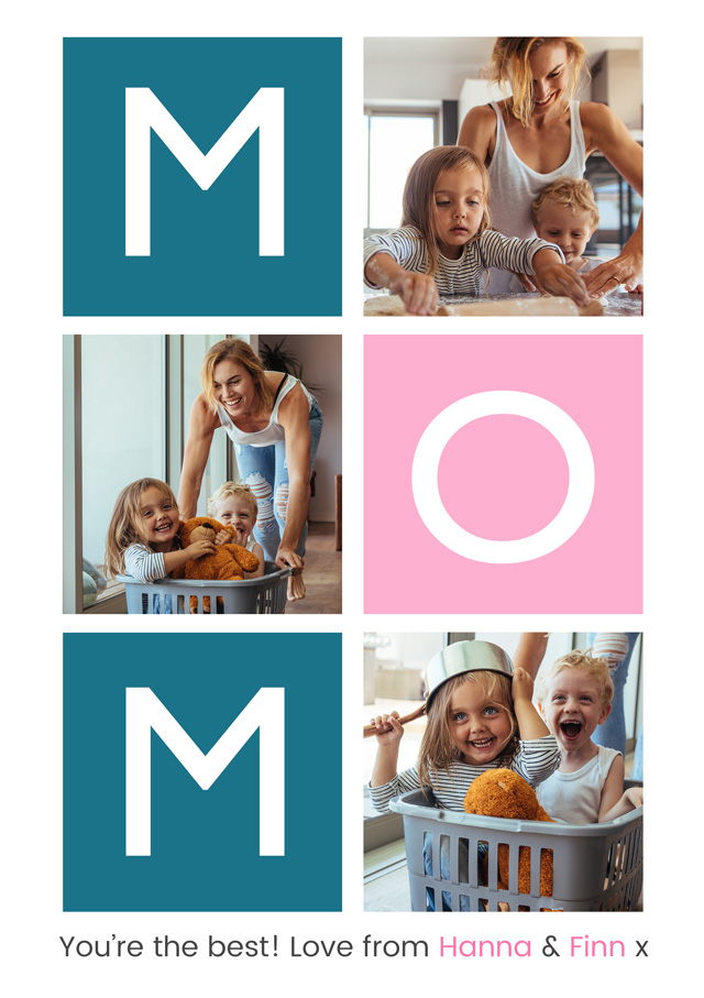 Create a Mom 3x Collage Greeting Card