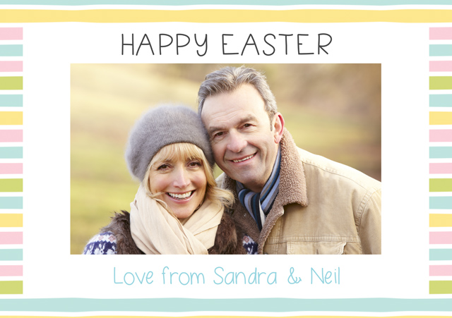 Create a Easter Stripes Greeting Card