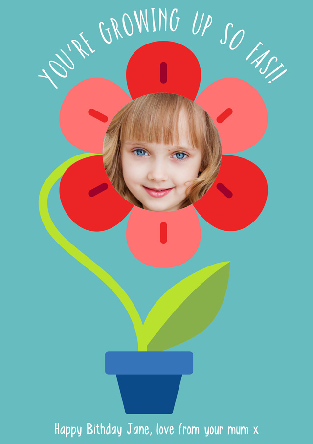 Create a Flower Pot Greeting Card