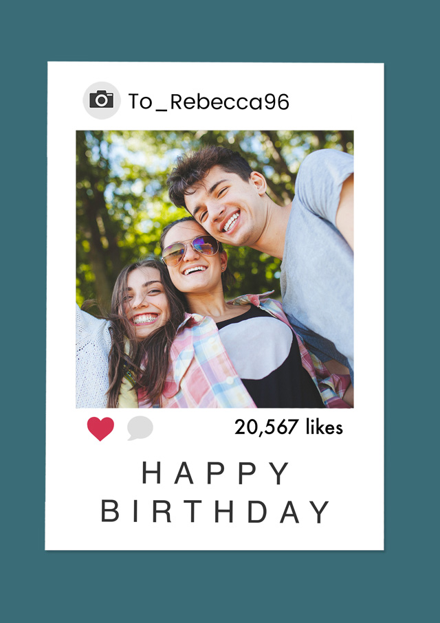 Create a Photo Card Birthday Instagram Polaroid Photo Card