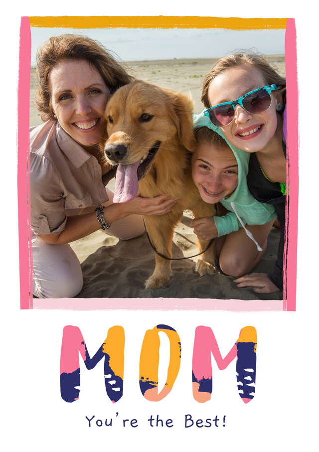 Create a Photo Mother's Day Card Modern Mom Photo Card