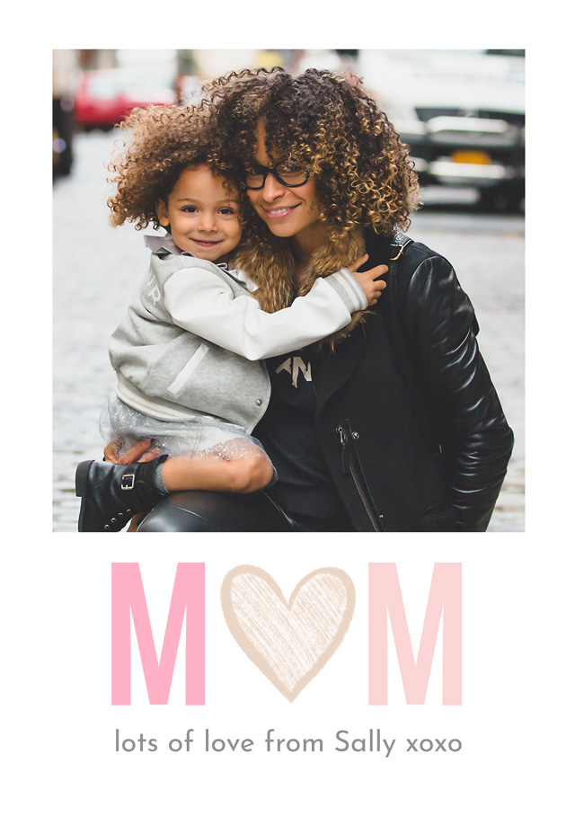 Create a Photo Mother's Day Card Hand Drawn Heart Photo Card