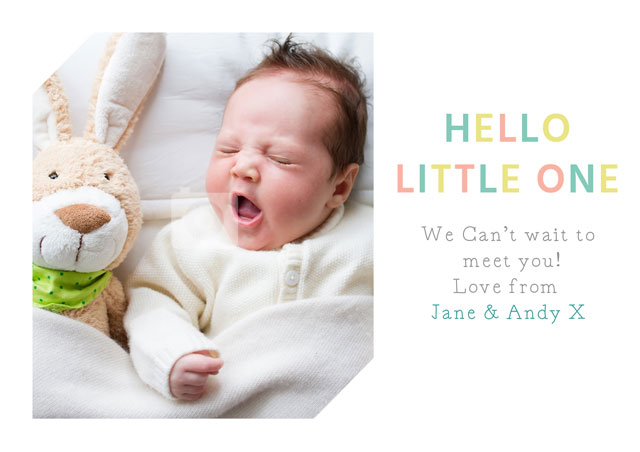 Create a Hello Little One 2 Photo Card
