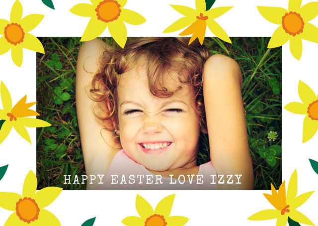 Create Photo Easter Card Spring Card