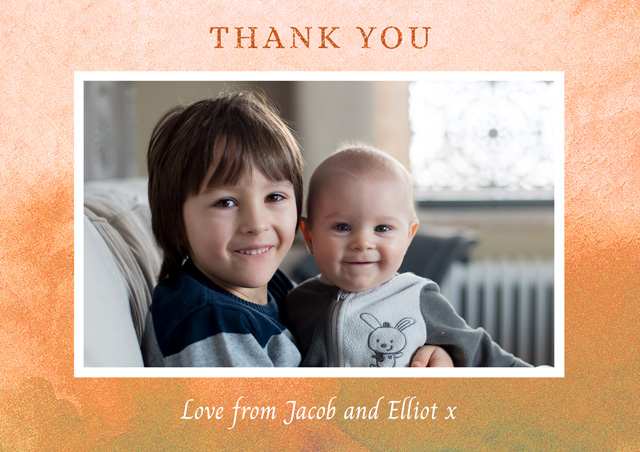 Create a Photo Thank You Card Watercolour Landscape Photo Card