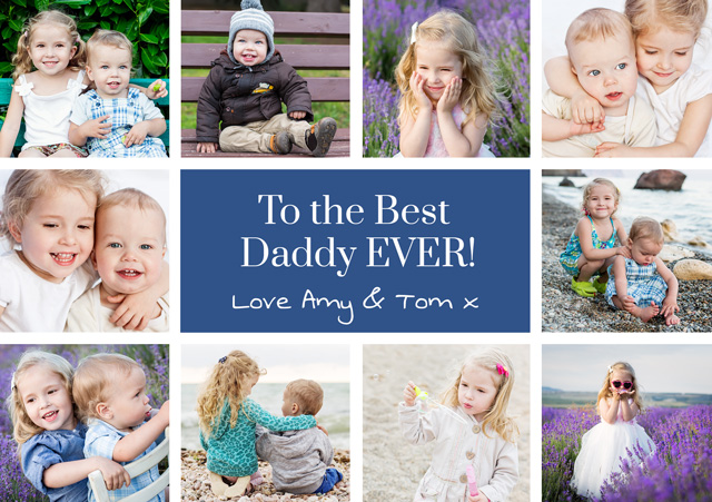 Create Photo Father's Day Card Collage 10 Photos Card