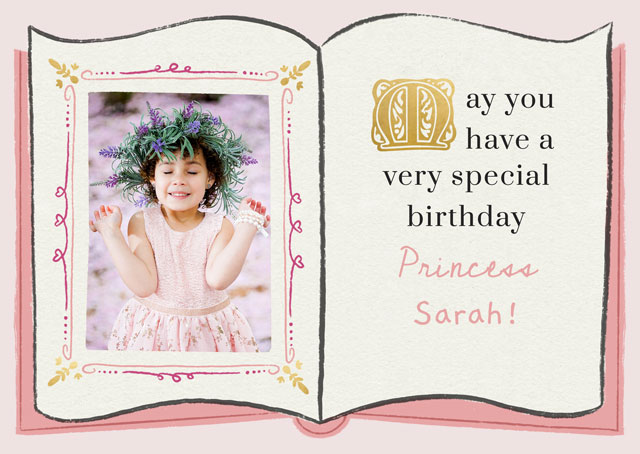 Create a Photo Card Birthday Fairy Tale Book Photo Card