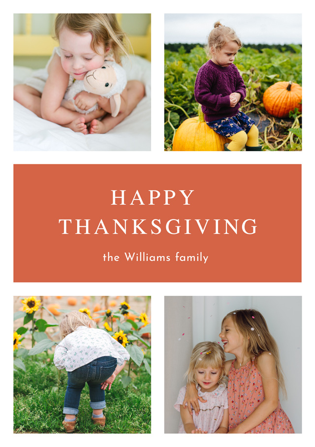 Create Portrait Thanksgiving Card Timeless Classic Card