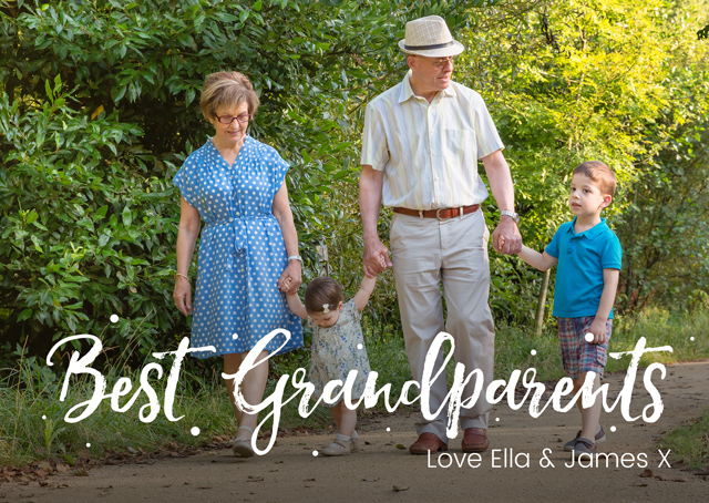 Create a Best Grandparents Photo Overlay Photo Card