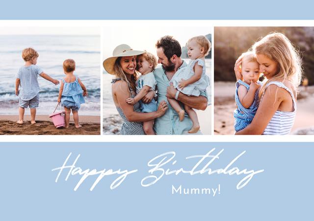Create a Photo Card Birthday Collage Script Photo Card
