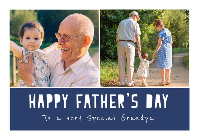 Create a Father's Day Text  Photo Card