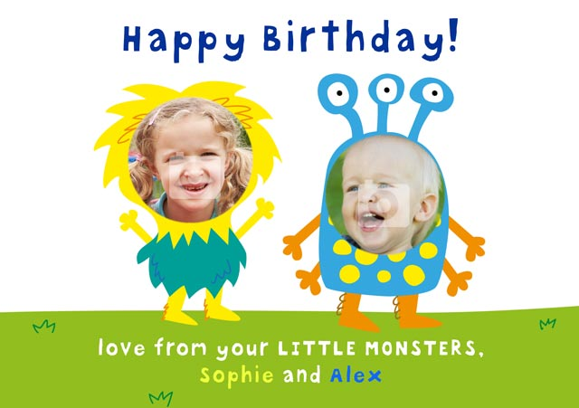 Create a Birthday Monsters Photo Card