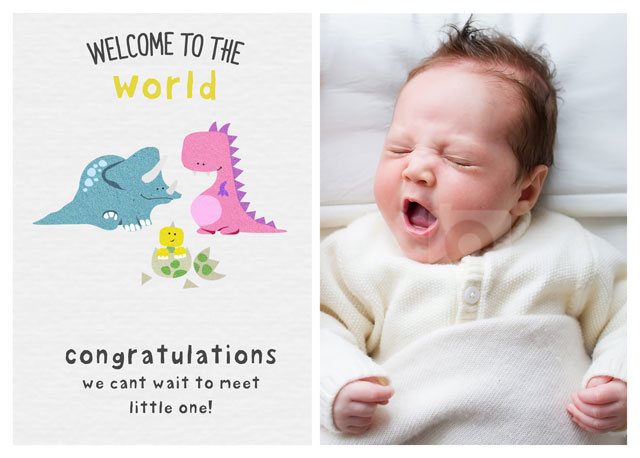 Create a Welcome To The World Greeting Card