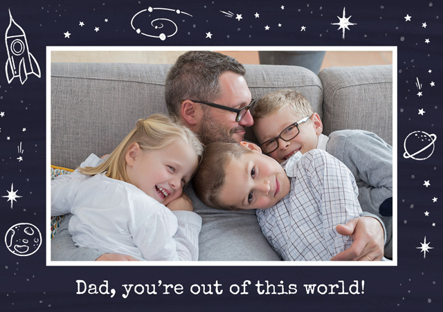 Photo Father's Day Card Space Border