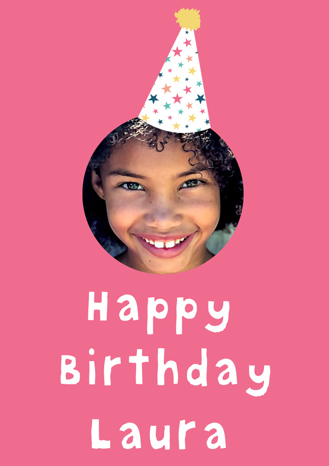 Create a Birthday Party Hat Greeting Card