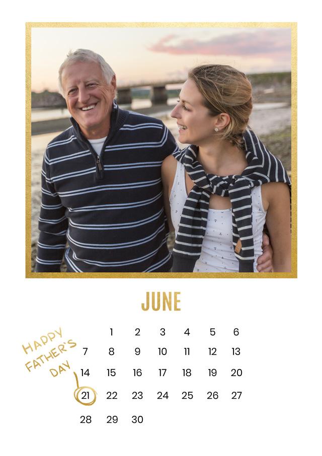 Create a Photo Father's Day Card Calendar Photo Card