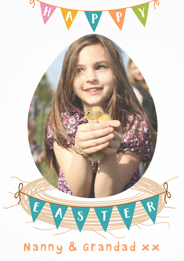 Create a Photo Easter Card Bunting Photo Card
