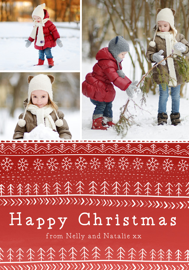 Create a Photo Christmas Card Collage Nordic Photo Card