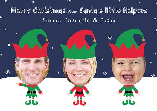 Create a Photo Christmas Card Elf X3 Photo Card