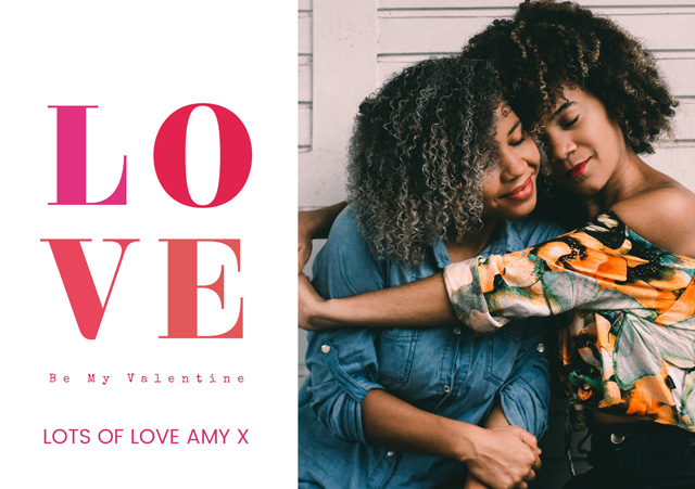 Create a Sophie 4 Colour Love Greeting Card