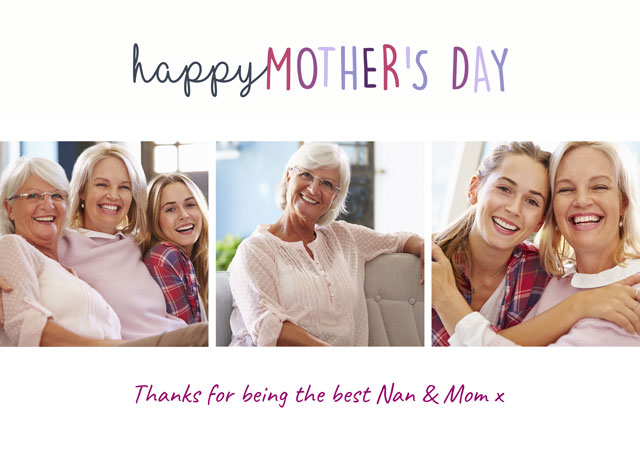 Create a Happy Mothers Day X3 Usa Photo Card