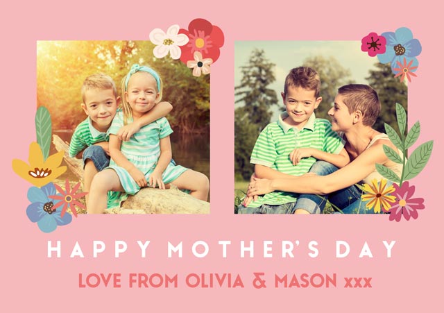 Create a Floral Mother's Day Photo Card