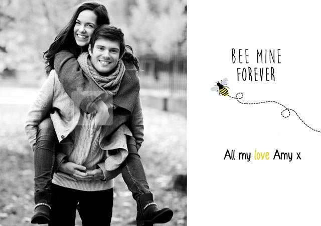 Create a Bee Mine Greeting Card