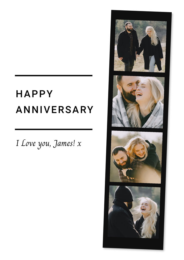 Create Anniversary Photo Card Strip Card