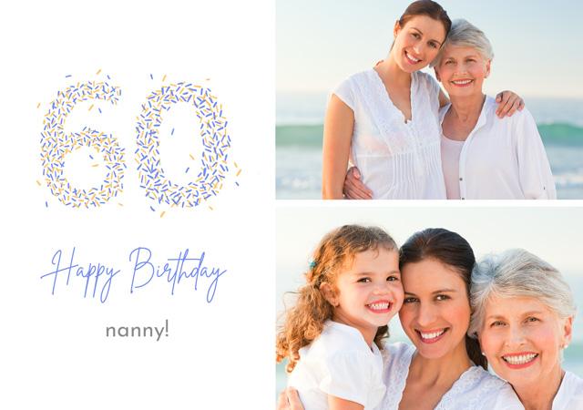 Photo Card Birthday Milestone 50 Sprinkles Collage