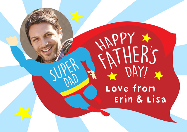 Create a Superhero Dad Photo Card
