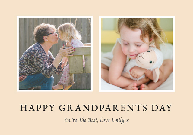 Create New Photo Card Grandparents Day   Design 4 Card