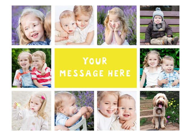 Create a 10 Collage Any Occassion Greeting Card