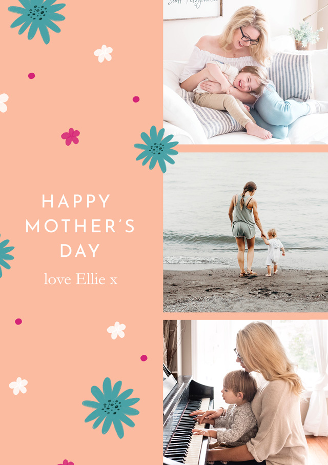 Create a Photo Mother's Day Card Contemporary Photo Card