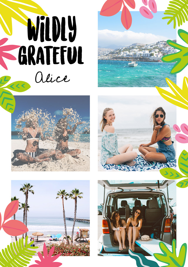 Create a Wildly Greatful Greeting Card