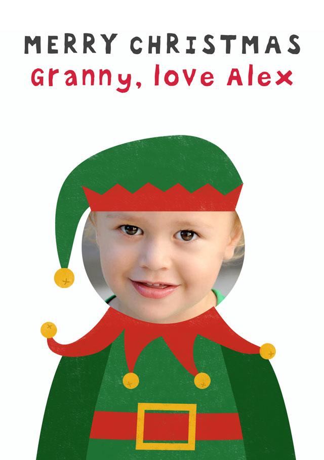 Create a Elf Photo Card