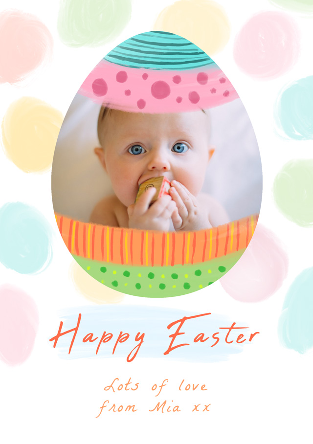 Create Photo Easter Card Easter Egg Card