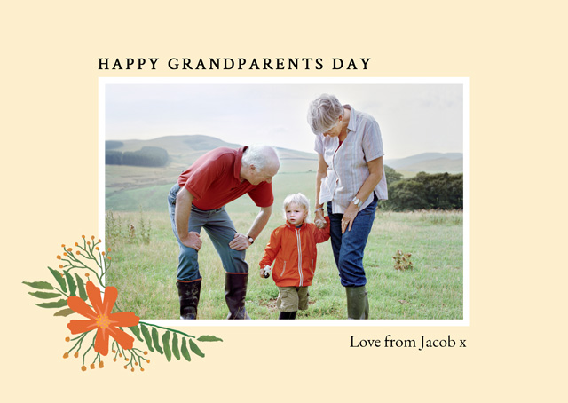 Create New Photo Card Grandparents Day   Design 11 Card