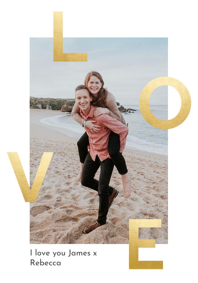 Create a Photo Card Love Foil Effect Photo Card
