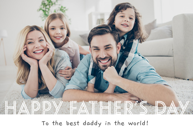 Create Photo Father's Day Card Happy Father's Day Band Card
