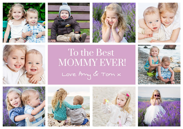 Create a Photo Mother's Day Card 10 Photo Collage Photo Card