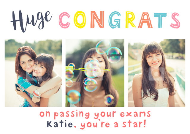 Create a Huge Congrats Photo Card