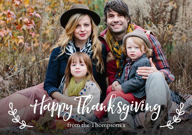 Landscape Thanksgiving Card Illustrated Script