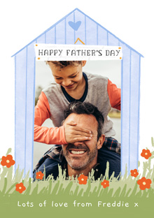 Create a Photo Father's Day Card Garden Hut Photo Card