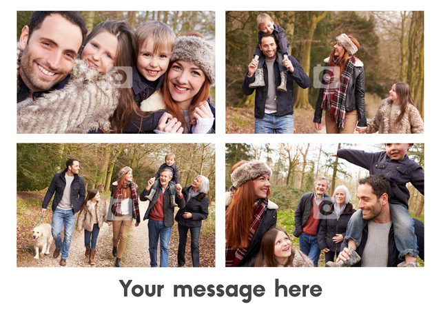 Create a 4 Photos With Text  Greeting Card