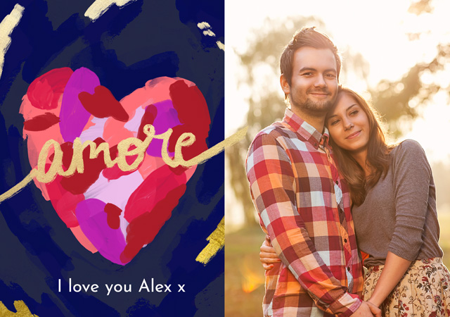 Create a Photo Card Love Amore Photo Card