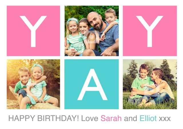 Create a 'Yay' Happy Birthday  Photo Card
