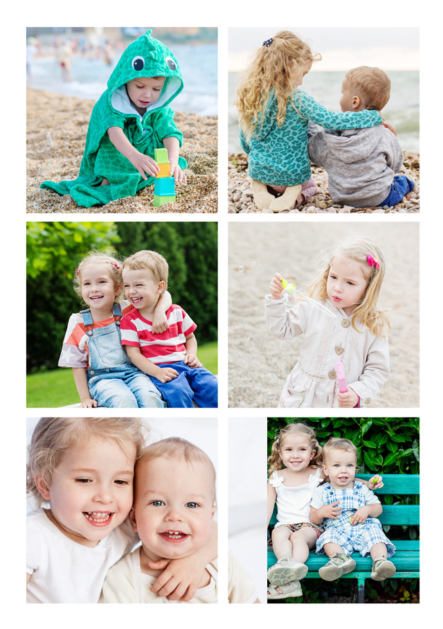 Create a 6 Photos With Text Photo Card